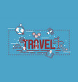 navigation pattern travel map road location vector image vector image