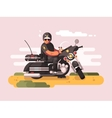 Police officer on motorcycle vector image vector image