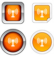 Radio button set vector image vector image