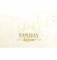 ramadan greeting banner with islamic mosque vector image vector image