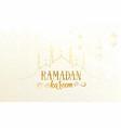 Ramadan greeting banner with islamic mosque
