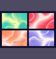 set abstract minimalist backgrounds with vector image vector image