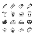 Set of fastfood icons eps10 format vector image vector image