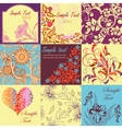 Set of retro floral backgrounds and seamless vector | Price: 1 Credit (USD $1)