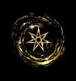 seven point star or septagram gold fairy star vector image vector image