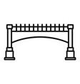 small bridge icon outline style vector image vector image