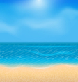 Summer holiday background with sunlight vector image