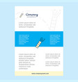 template layout for pop comany profile annual vector image