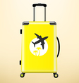 Travel bag with sticker vector image