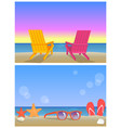 two seascapes banners summer time vector image vector image