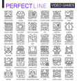 video games outline mini concept symbols modern vector image