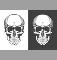 vintage monochrome highly detailed skull vector image vector image