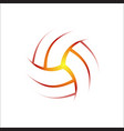 volleyball outline background vector image vector image
