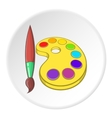 Watercolor and brush icon cartoon style vector image vector image