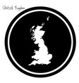 white map of united kingdom on black vector image