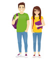 young people in casual clothes vector image vector image