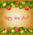 happy new year Card christmas background vector image