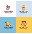 logo design templates in linear style - motherhood vector image