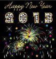 2013 with fireworks celebration vector image vector image