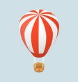 3d isometric flat concept air balloon vector image