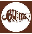 animals logo buffalo vector image