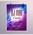 beautiful party flyer template with colorful vector image vector image