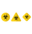 biohazard or biological threat alert icon warning vector image vector image