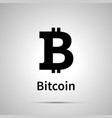 bitcoin cryptocurrency simple black icon vector image