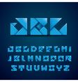 Blue Origami Alphabet vector image