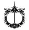 brooch fibula medieval viking celtic germanic vector image