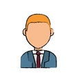 Business executive profile vector image vector image