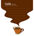 Coffee cup cafe menu design vector image vector image