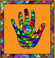 colored image hand vector image