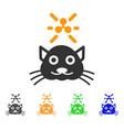 crypto ripple kitty icon vector image