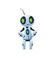 cyborg kids toy isolated digital robot humanoid vector image vector image