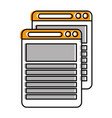 document files isolated icon vector image