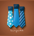 fathers day celebration card vector image