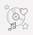 favorite song icon line element vector image