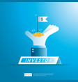 financial business investor funding concept with vector image