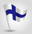 flag finland vector image