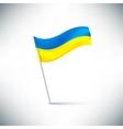 flag ukraine vector image vector image