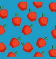 fresh apples pattern background vector image