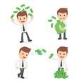 funny cartoon businessman vector image