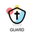 gaurd icon for sccess on white background vector image