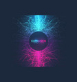 geometric abstract background expansion life vector image