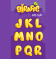 giraffe font 2set vector image vector image
