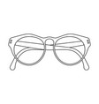 glasses icon outlined vector image vector image