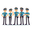 group of police officers woman and man cops vector image vector image