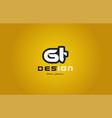 gt g t alphabet letter combination digit white on vector image vector image