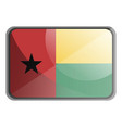 guinea bissau flag on white background vector image vector image